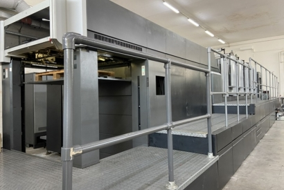 HEIDELBERG CD 102-5+LX UV to Cartotecnica Valverde in Italy